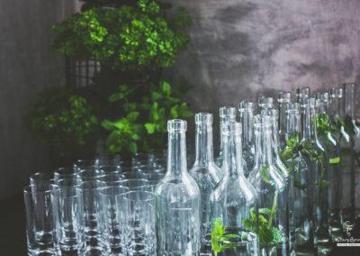 aranżacja stołu - napoje, woda